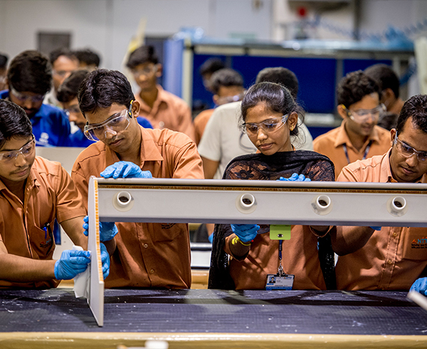 Young engineers get hands-on advanced manufacturing training in one of Boeing's skill development programs running across the country.