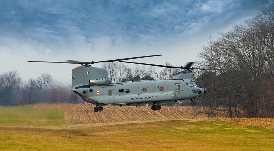Chinook in flight.